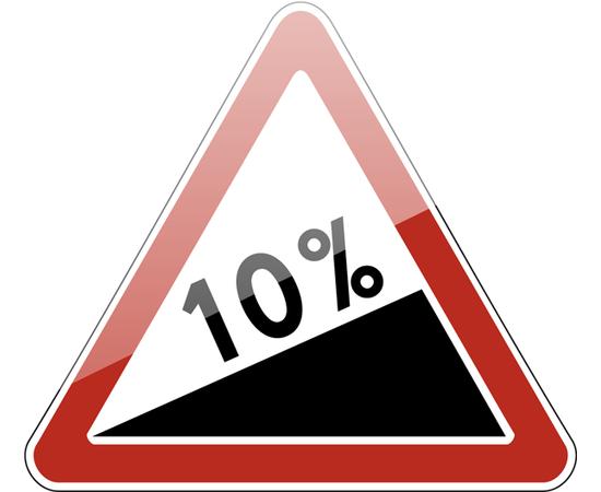 дорожный знак 1.14  Крутой подъем, фото 1