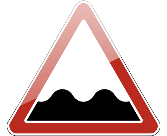дорожный знак 1.16  Неровная дорога, фото 1