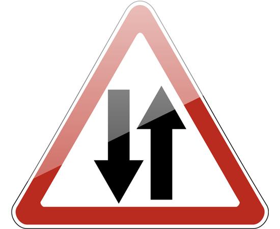 дорожный знак 1.21  Двустороннее движение, фото 1