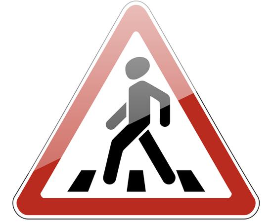 знак дорожный 1.22 Пешеходный переход, фото 1