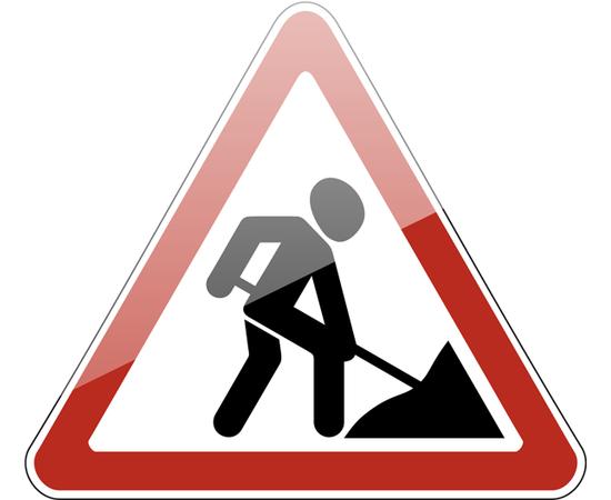 знак дорожный 1.25 Дорожные работы, фото 1