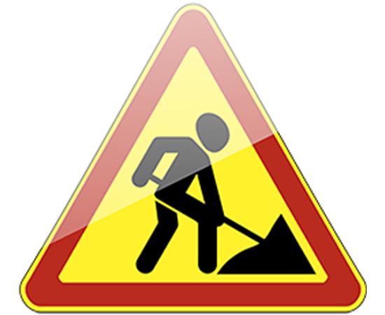 Дорожный знак 1.25 Дорожные работы (желтый фон), фото 1
