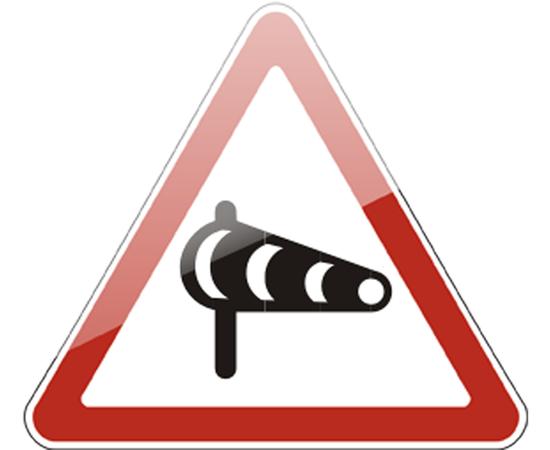дорожный знак 1.29  Боковой ветер, фото 1