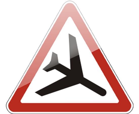 дорожный знак 1.30  Низколетящие самолеты, фото 1