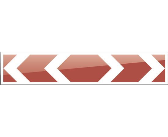 дорожный знак 1.34.3  Направление поворота  2250х500 мм, фото 1