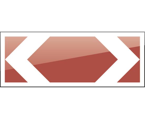 дорожный знак 1.34.3  Направление поворота 1160х500 мм, фото 1
