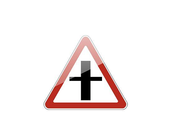 знак дорожный  2.3.1 Пересечение со второстепенной дорогой, фото 1