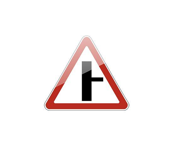 знак дорожный  2.3.2 Примыкание второстепенной дороги, фото 1