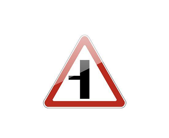 знак дорожный  2.3.3 Примыкание второстепенной дороги, фото 1