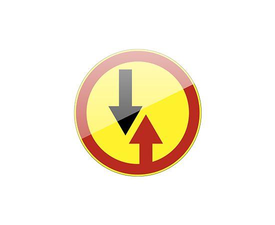 дорожный знак 2.6  Преимущество встречного движения  (желтый фон), фото 1