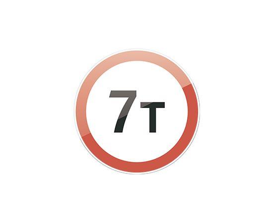 дорожный знак 3.11  Ограничение массы, фото 1