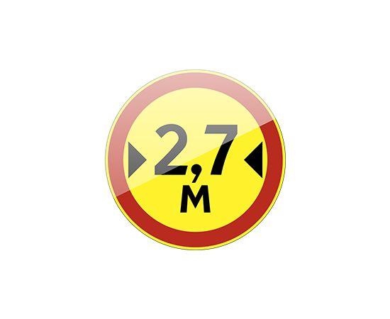 дорожный знак 3.14 Ограничение ширины (желтый фон), фото 1