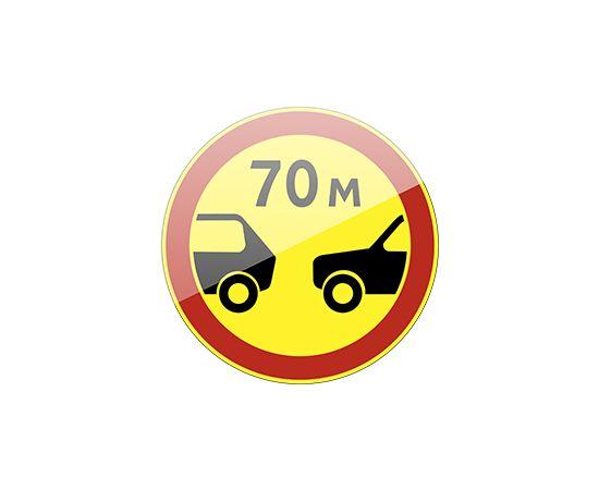 дорожный знак 3.16  Ограничение минимальной дистанции  (желтый фон), фото 1