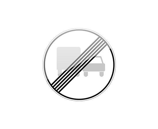 дорожный знак 3.23  Конец зоны запрещения обгона грузовым автомобилям, фото 1