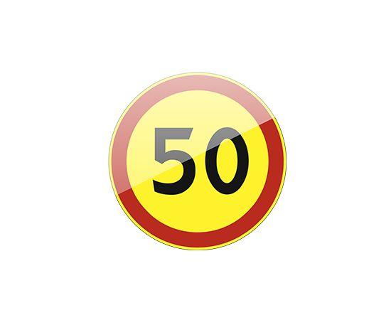 дорожный знак 3.24 Ограничение максимальной скорости (желтый фон), фото 1