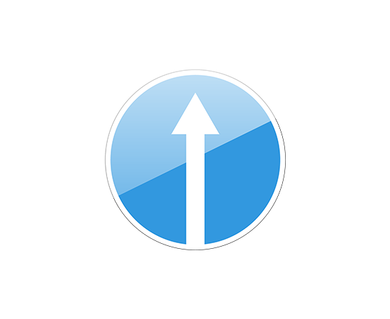 дорожный знак 4.1.1  Движение прямо, фото 1