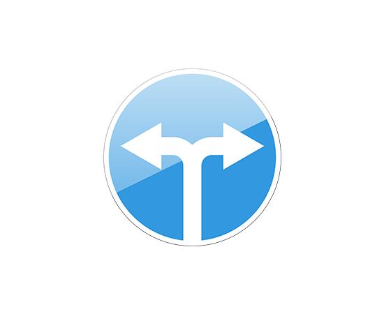 дорожный знак 4.1.6  Движение направо или налево, фото 1