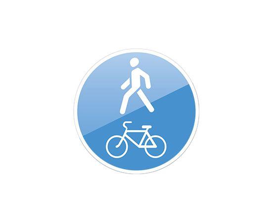 дорожный знак 4.5.2 Пешеходная и велосипедная дорожка с совмещенным движением, фото 1