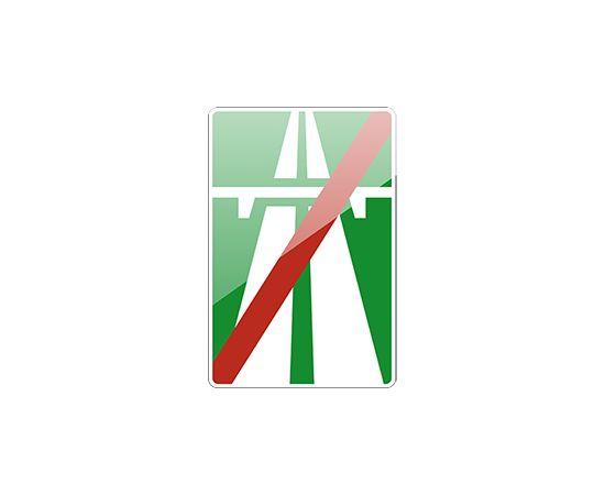дорожный знак 5.2  Конец автомагистрали, фото 1