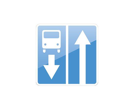 дорожный знак 5.11.1  Дорога с полосой для маршрутных транспортных средств, фото 1