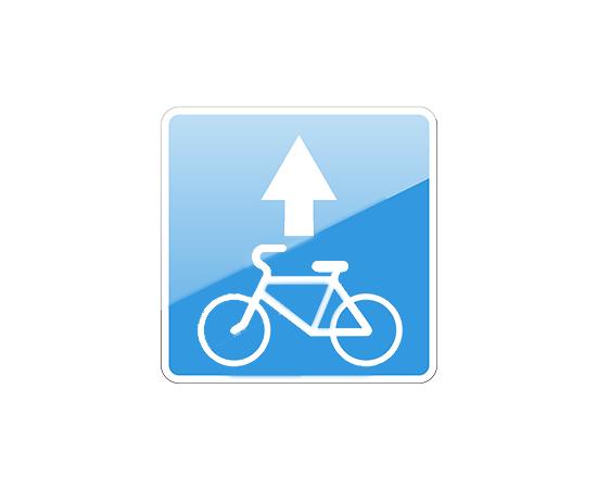 дорожный знак 5.14.2  Полоса для велосипедистов, фото 1