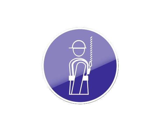 знак М 09 Работать в предохранительном (страховочном) поясе, фото 1