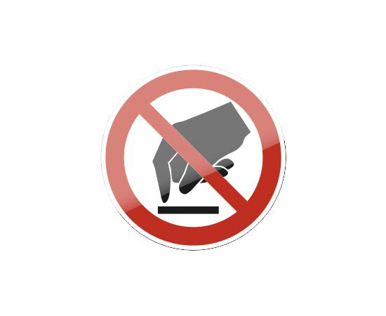 знак P 08 Запрещается прикасаться. Опасно, фото 1