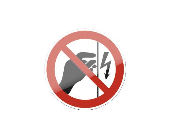 знак P 09 Запрещается прикасаться. Корпус под напряжением, фото 1