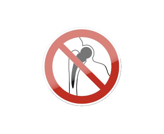 знак P 16 Запрещается работа (присутствие) людей, имеющих металлические имплантанты, фото 1