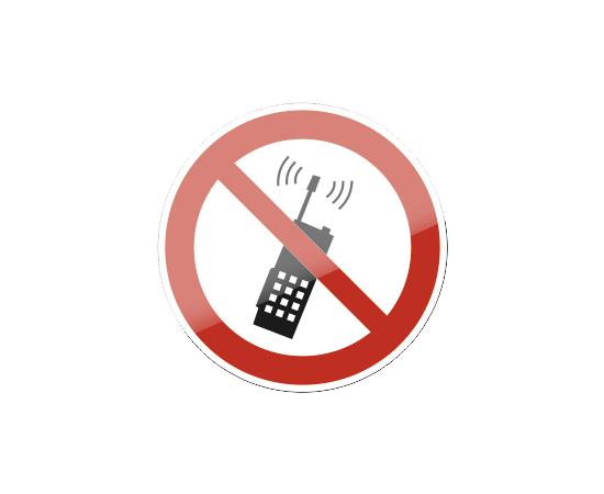 знак P 18 Запрещается пользоваться мобильным (сотовым) телефоном или переносной рацией, фото 1