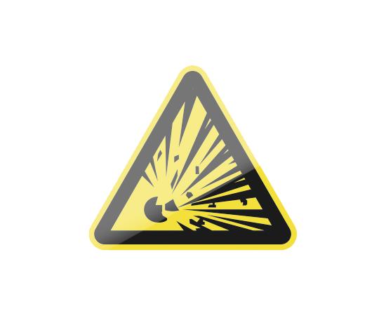 знак W02 Взрывоопасно, фото 1