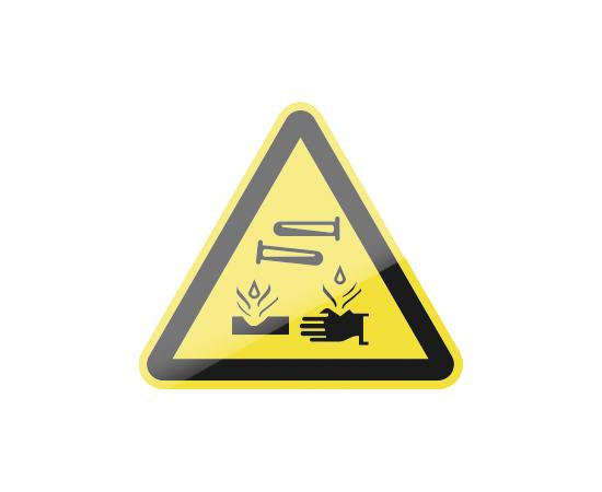 знак W04 Опасно.  Едкие и коррозионные вещества, фото 1