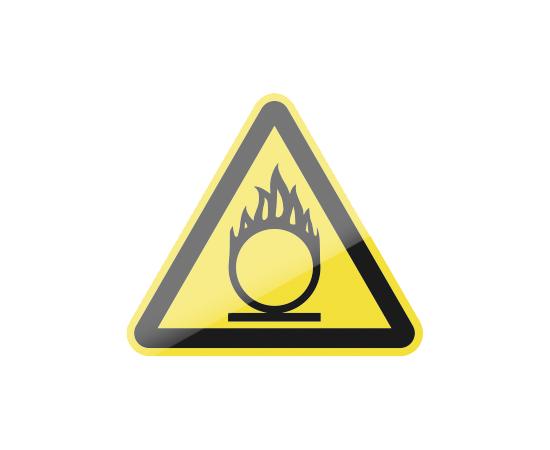 знак W11 Пожароопасно.  Окислитель, фото 1