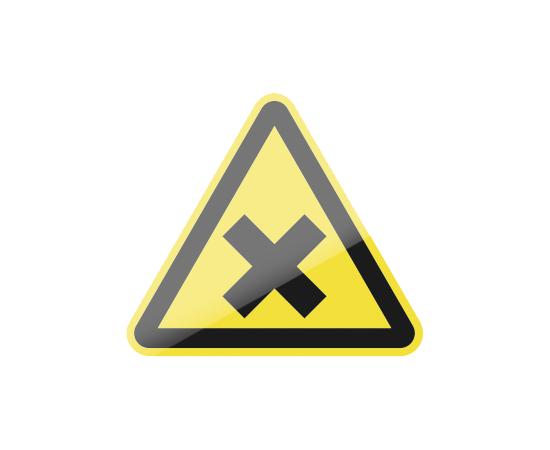 знак W18 Осторожно.  Вредные для здоровья аллергические (раздражающие) вещества, фото 1