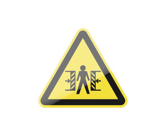 знак W23 Внимание.  Опасность зажима, фото 1