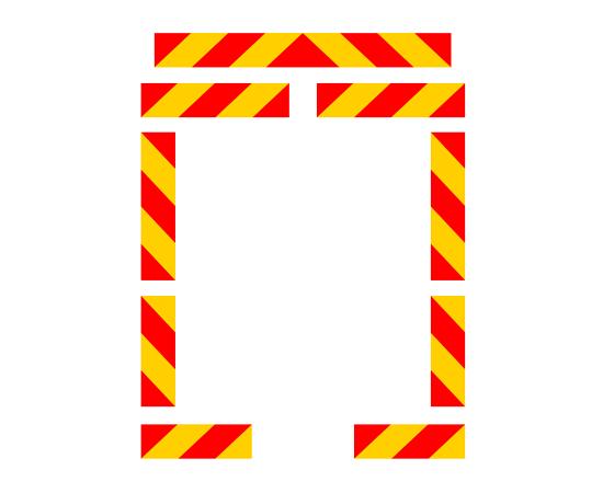 Знаки задние опознавательные для прицепов и тягачей, фото 1