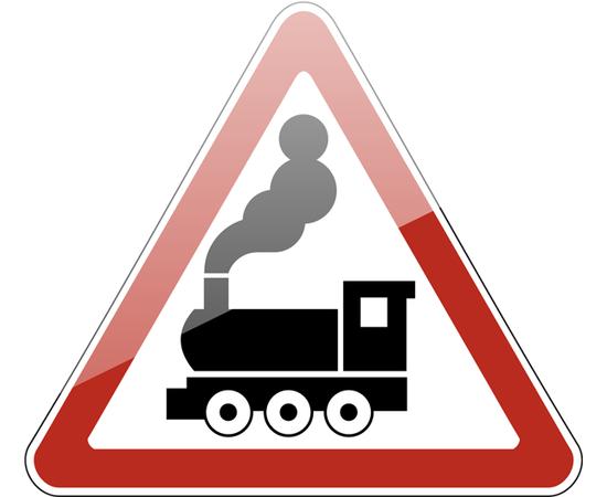 знак 1.2 Железнодорожный переезд без шлагбаума, фото 1