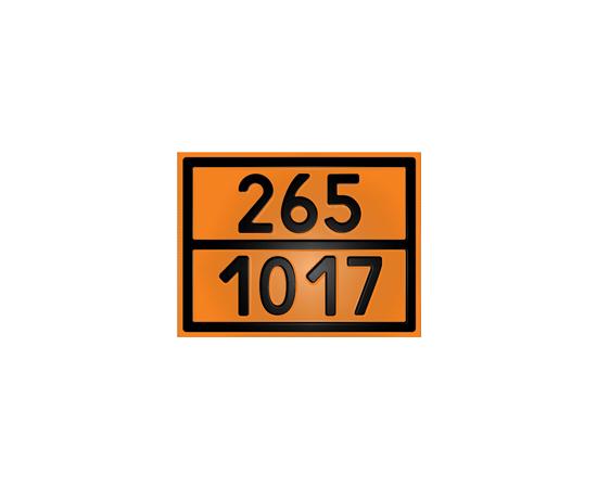 Табличка оранжевая 265/1017 жидкий хлор, фото 1