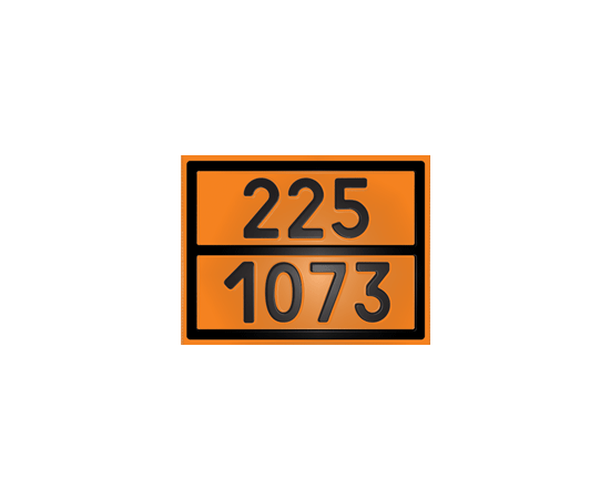 Табличка оранжевая 225/1073 жидкий кислород, фото 1