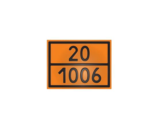 Знак опасности 20/1006 аргон, фото 1