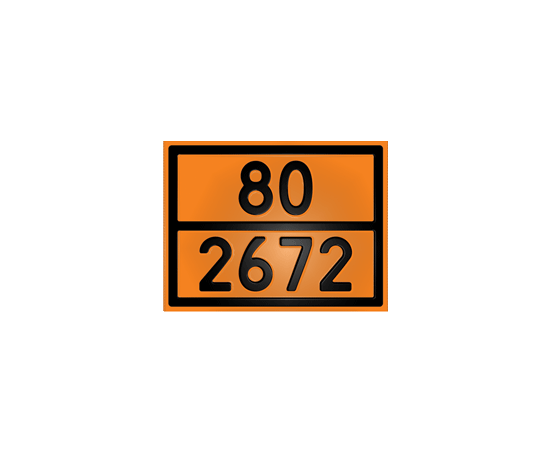 Табличка оранжевая 80/1263 аммиак водный, фото 1