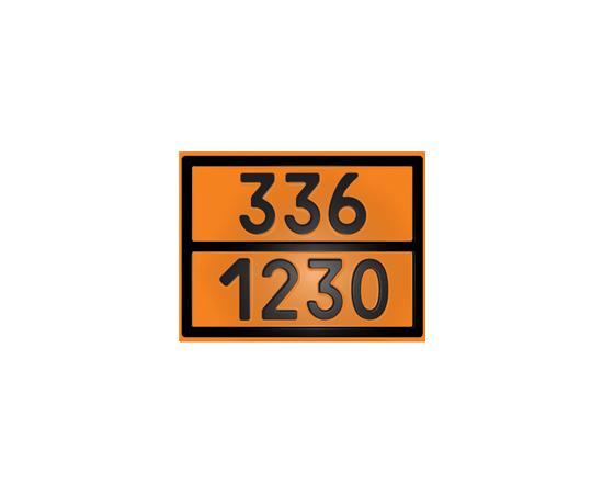 Табличка оранжевая 336/1230 метанол, фото 1