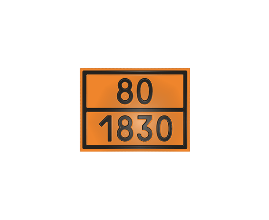 Табличка оранжевая 80/1830 кислота серная, фото 1
