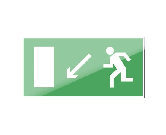 знак Е 08 Направление к эвакуационному выходу налево вниз, фото 1