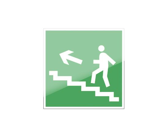 знак Е 16 Направление к эвакуационному выходу по лестнице вверх, фото 1