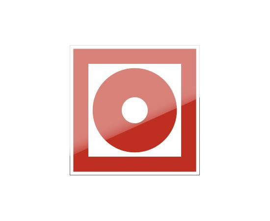 знак F 10 Кнопка включения установок (систем) пожарной автоматики, фото 1