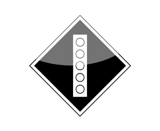 знак Поднять токоприемник на электровозе, фото 1