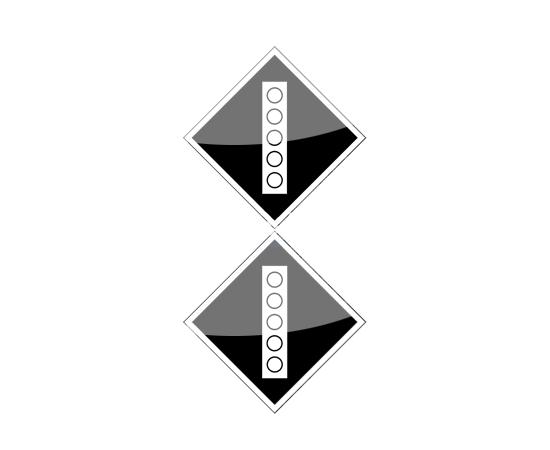 знак Поднять токоприемник на электропоезде, фото 1