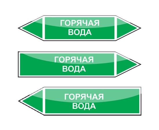 """Маркировка трубопроводов """"Горячая вода"""", фото 1"""