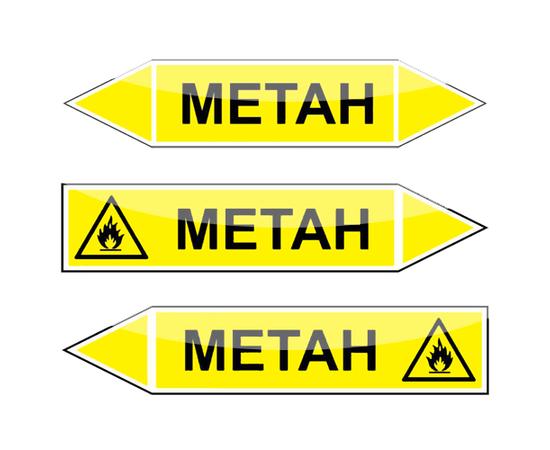 "Маркировка трубопроводов ""Метан"", фото 1"